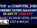 Top 10 Basic Computer Jobs
