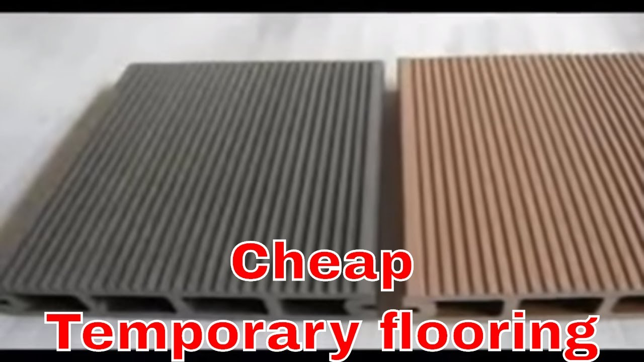 Cheap temporary flooring temporary out door floor youtube - Temporary floor covering for renters ...