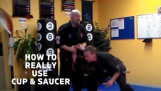 "Using a ""Cup & Saucer for Push Defense/Penacook School Martial Arts"
