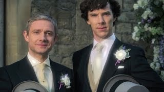 Repeat youtube video Sherlock's wedding video - Sherlock: Series 3 - BBC One