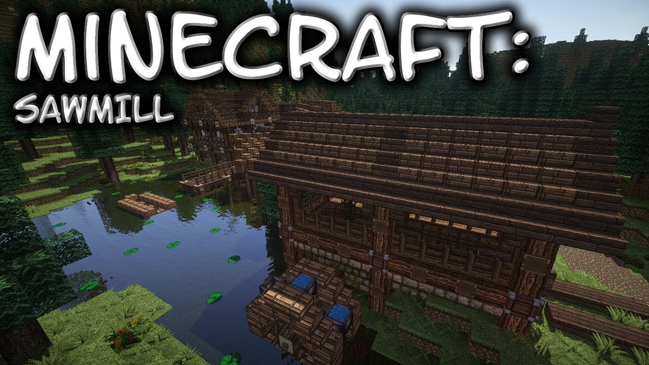 Minecraft Hobbit Rustic Lumber Mill Yard Tutorial Part 1 Xbox Ps4 Pc