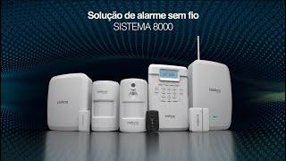 Sistema 8000: solução de alarme sem fio para sua segurança