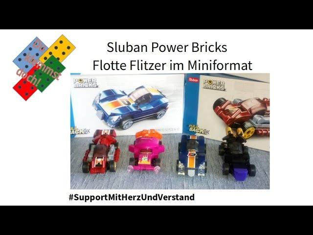 Sluban Power Bricks - Flotte Flitzer im Miniformat