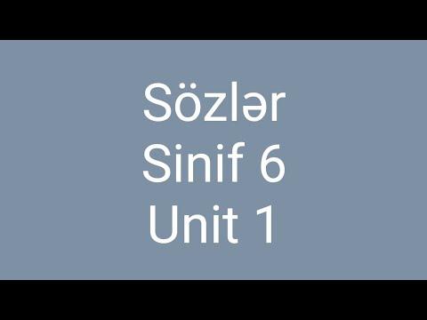 Sozler - sinif 6, unit 1