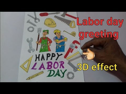 How to draw labor day chart labor day greeting card labor day how to draw labor day chart labor day greeting card labor day card making ideas m4hsunfo