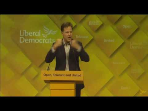 Nick Clegg delivers EU speech to Lib Dem party conference