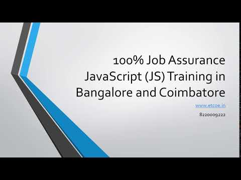 100% Job Assurance Javascript JS Training in Bangalore and Coimbatore-www.etcoe.in
