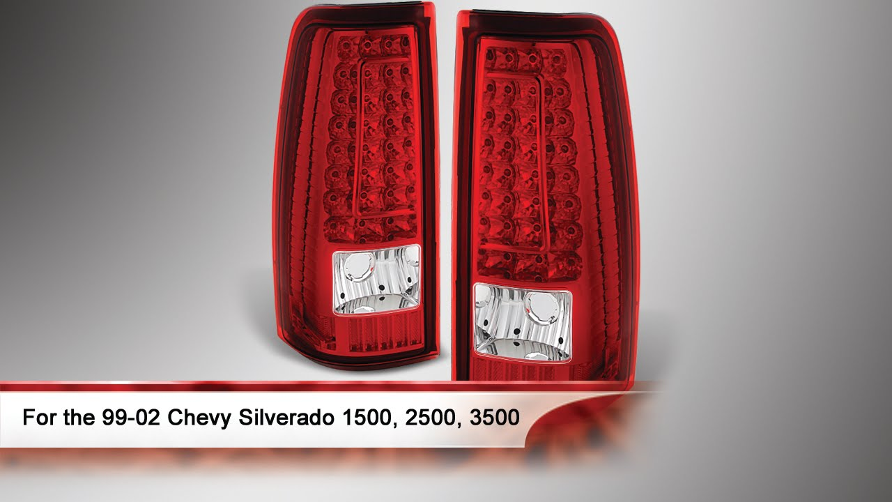 99-02 Chevy Silverado 1500, 2500, and 3500 LED Tail Lights ...