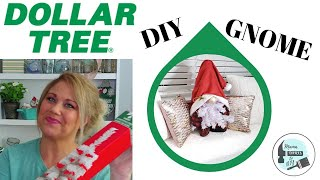 How To Make A Gnome from a Dollar Tree Mini Christmas Tree!