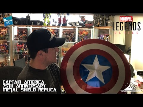 Marvel Legends Captain America 75th Anniversary Metal Shield Video Review