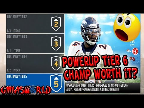 POWERUP TIER 6 CHAMP BAILEY IS NOT WHAT YOU THINK HE WILL BE IN MADDEN 18 ULTIMATE TEAM HERE