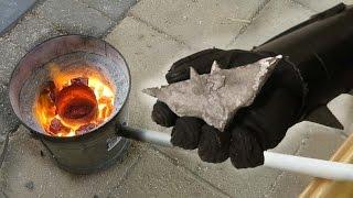 Melting Aluminium Cans into a Bat Symbol (Badly)