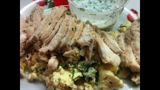 Салат с курицей и омлетом по Дюкану / chicken salad omelette by Dukan
