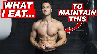 What I Eat iฑ a Day to Maintain my Physique **not tracking calories**