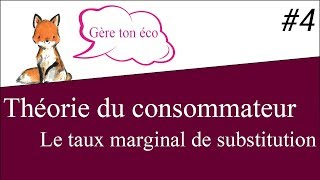 Microéconomie : Le taux marginal de substitution (TMS) Théorie du consommateur #4
