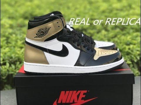 check out c3b8f 68764 Fake or Real? AIR JORDAN 1 RETRO TOP 3 BLACK GOLD REVIEW