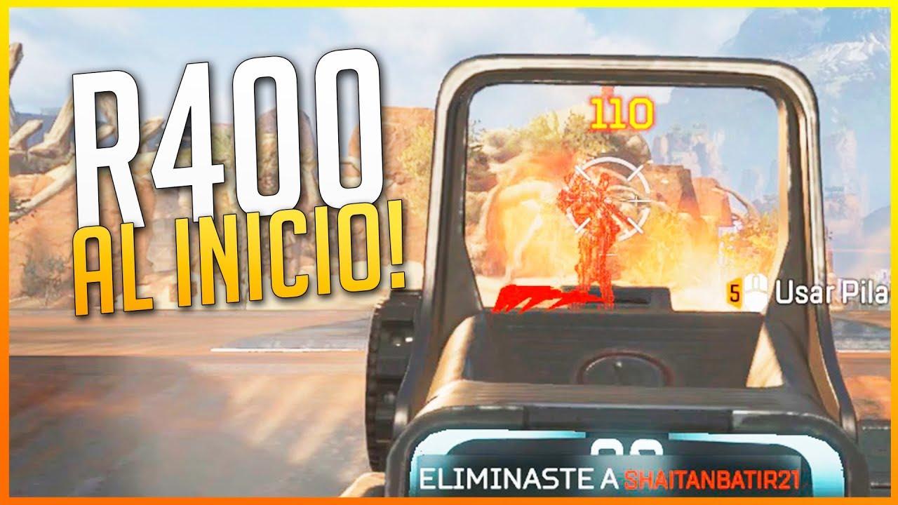 APEX LEGENDS: R400 NADA MÁS EMPEZAR Y CAMPERO NIVEL DIOS AL FINAL | Makina