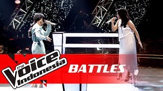 Waode vs Cila - Cinta (Melly Goeslaw feat. Krisdayanti) | Battles | The Voice Indonesia GTV 2018