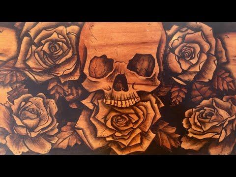 Stain Art Skull table - by Karen Governale