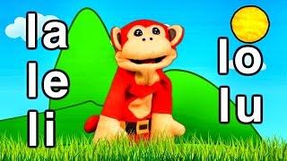 Sílabas la le li lo lu - El Mono Sílabo - Videos Infantiles - Educación para Niños #
