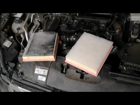 Replacement Air filter Peugeot 308 II MK2 1.6 HDI 73 KW DIY (výměna filtru sání)