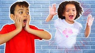 Leah Pretend Play Jump Through the Wall | Funny Class Story for Kids