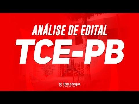 Concurso TCE-PB - Análise de Edital 2017