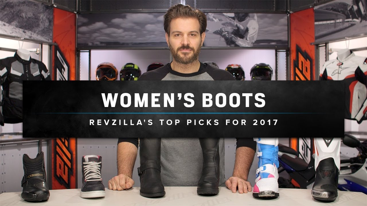 Best Women S Motorcycle Boots Shoes 2017 At Revzilla Com Youtube