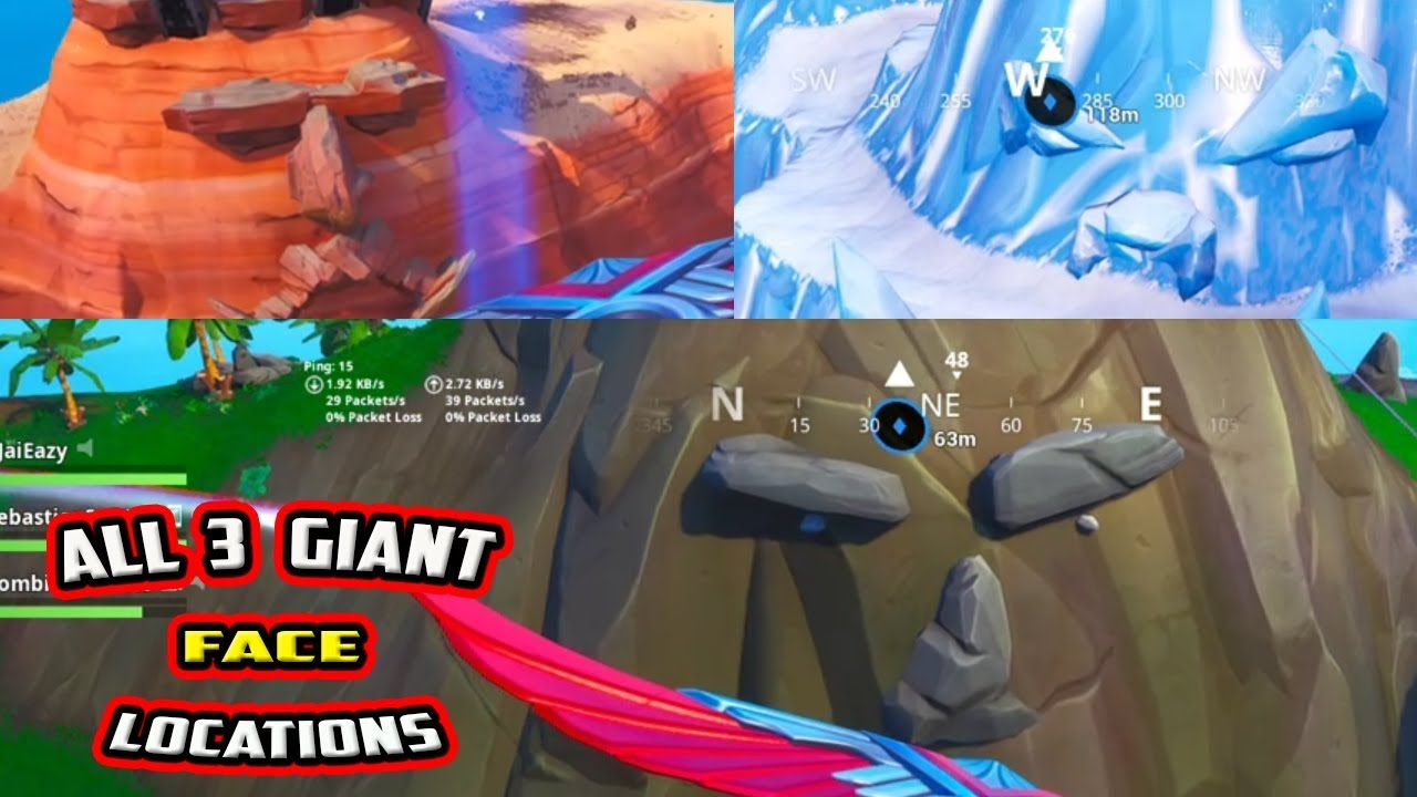 visit a giant face in the desert the jungle and the snow fortnite season 8 week 1 challenges - visit face in snow fortnite