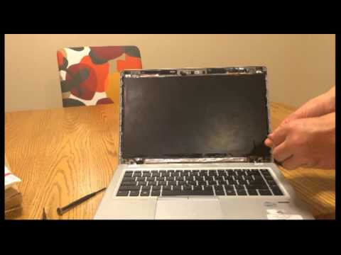 Laptop Screen Replacement / How To Replace Laptop Screen HP Elitebook 9470m G1 Laptop