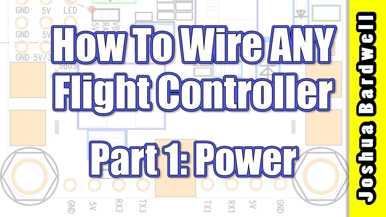 flight controller wiring for beginners part 1 power [ 1280 x 720 Pixel ]
