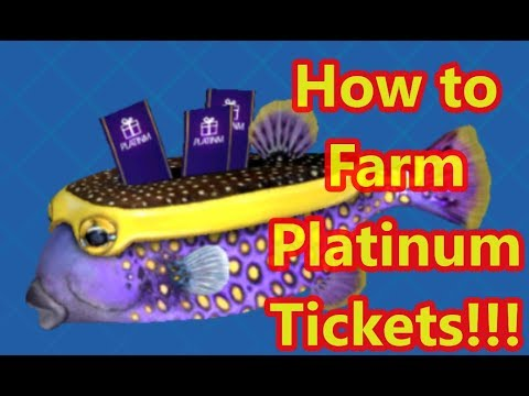 You can farm Platinum Tickets to Open Lucky Box with Treasure Fish - Fishing Strike Tips & Tricks