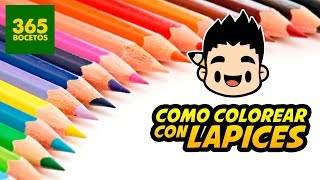 COMO COLOREAR CON LAPICES DE COLORES - tips para pintar con colores de madera