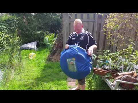 How to fold a Froyak pop-up tent from Action store