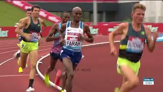 Mo Farah Win Mens 3,000m Birmingham Diamond League 2017
