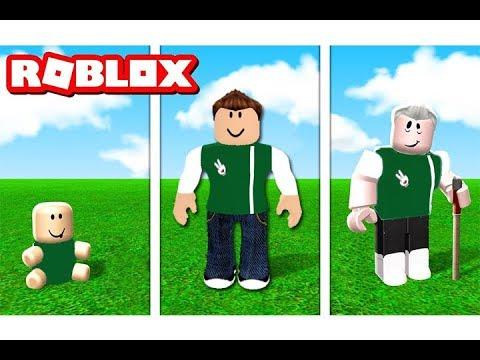 مراحل حياتي من الطفولة حتى اخر العمر لعبة roblox !!
