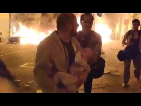 🔞Barcelona en llamas 🔥 independentistas climando ciudad