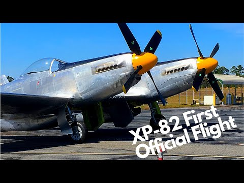 XP-82 Twin Mustang First Official Flight, 28 January 2019