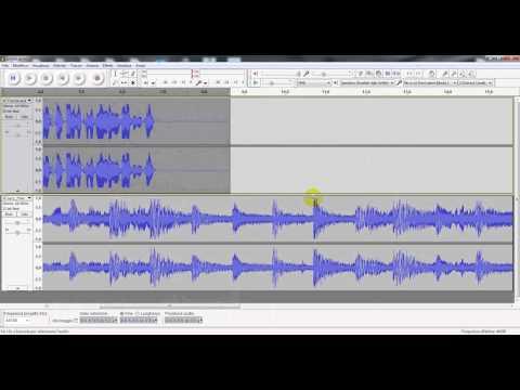 2 Mixare testo e musica con Audacity, correzioni audio