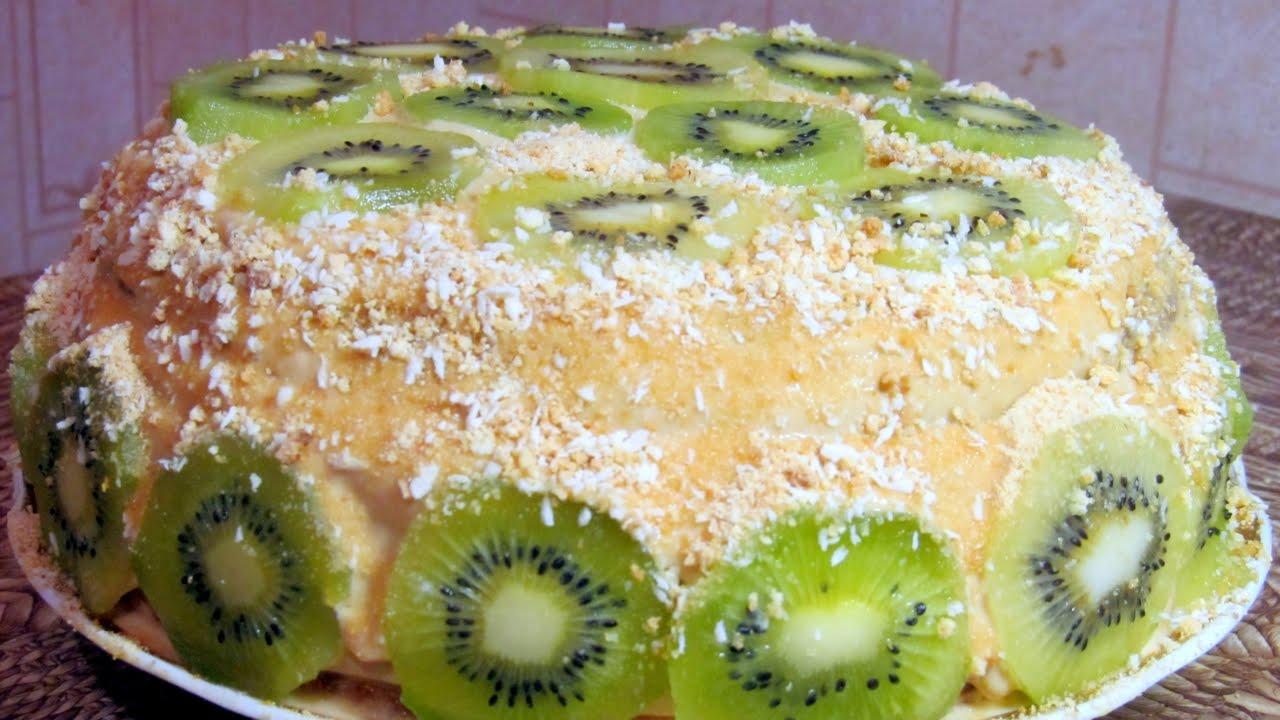 Рецепт торта с фруктами поэтапно 10
