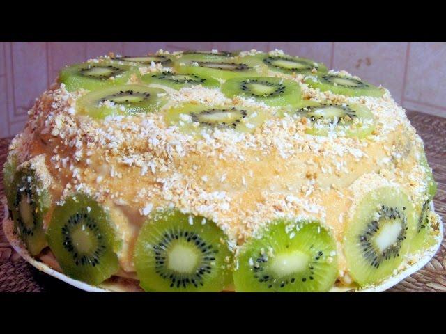Бисквитный торт с киви и бананом рецепт с фото пошагово и 92