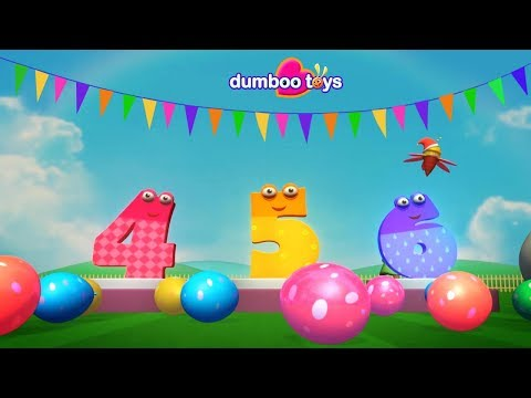 1234 NUMBER SONG for Children ENJAY 1234 SONG WITH FUNNY BEE  dumboo toys