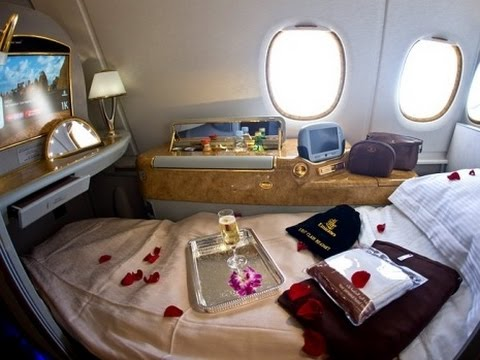First Class Emirates to Johannesburg!!!!!! - YouTube