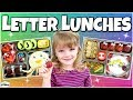 ABC LUNCH IDEAS! 🍎 Letter Themed Lunches for KIDS