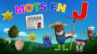 Foufou - Mots commençant par J pour les enfants (Learn words starting with J for kids) 4k