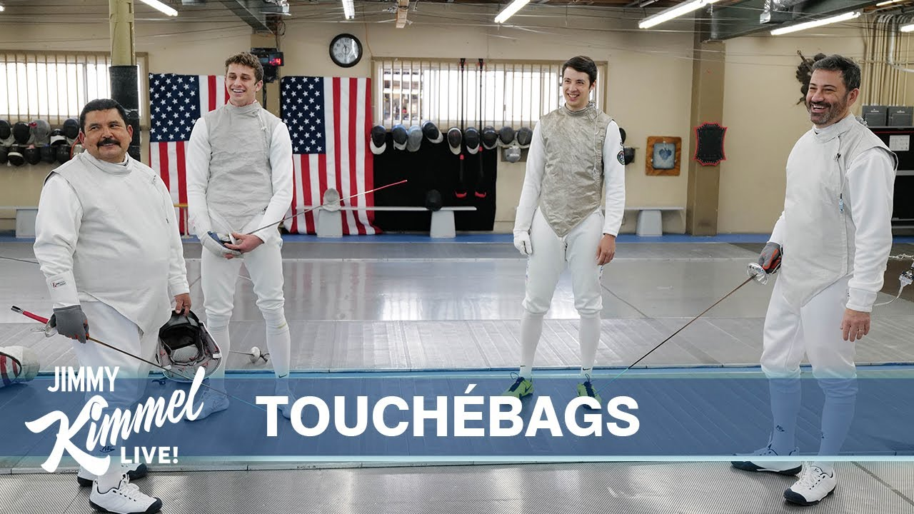 U.S. Olympians Teach Jimmy Kimmel & Guillermo How to Fence