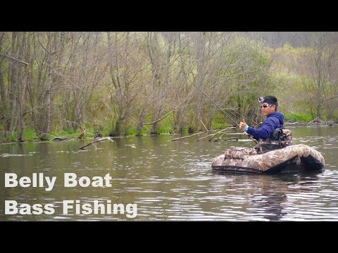 Belly Boat Bass Fishing! Exploring AEP Recreation Land - 60,000 Acres + 350 Ponds/Lakes