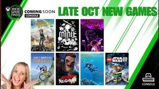 Xbox Game Pass Late October Early November New Additions! | What's Leaving Game Pass October 31st