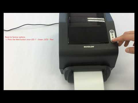 Printer Setup And Installation_Reset To Factory Options  (TX, DX, DL Series Model)