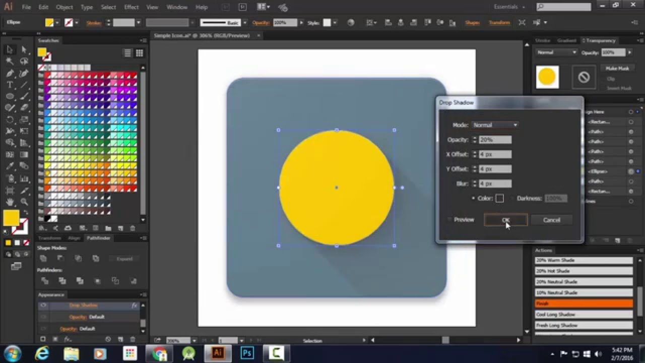 Easiest Material Design Icon Tutorial - Using Actions [Adobe ...